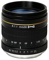 Opteka 85mm f/1.8 Manual Focus Aspherical Medium Telephoto