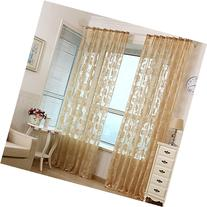 Oshide Voile Tulle Room Window Curtain Sheer Voile Panel