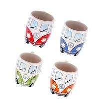 Volkswagen - 4 Piece Ceramic Shaped Coffee Mug / Cup Set