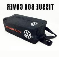 VW Volkswagen Embroidered Logo Tissue Box Cover