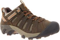 KEEN Men's Voyageur Trail Shoe,Black Olive/Inca Gold,17 M US