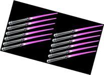Set of 12 VT Solid Pink LED Light Up Party Favor Toy Light
