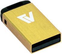 V7 VU24GCR-YLW-2N 4GB Yellow Nano USB Flash Drive - Mini