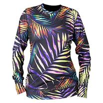 Neff Mens W'S Base Top Sweater Sweatshirt Large Palms