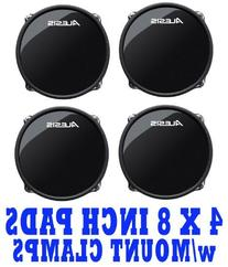 "SET OF 4 W/MOUNTS Alesis RealHead 8"" Dual Zone Drum Pads"