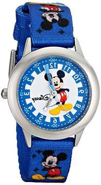 "Disney Kids' W000022 ""Time Teacher"" Stainless Steel Watch"