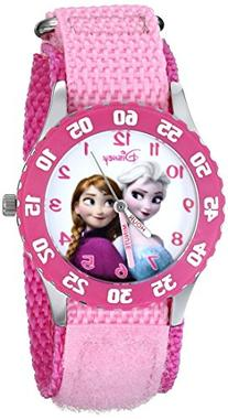 Disney Kids' W000970 Frozen Snow Queen Watch with Pink Nylon