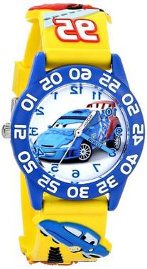 "Disney Kids' W001507 ""Time Teacher"" Disney Cars Watch With"