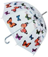 "Rainstoppers W3467 Clear Dome Butterfly Print Arc, 46"","