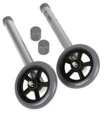 "Medline 5"" Walker Wheels for 2 Button Walker"