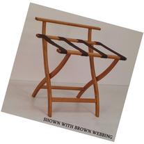 Wooden Mallet Wall Saver Contour Leg Luggage Rack with