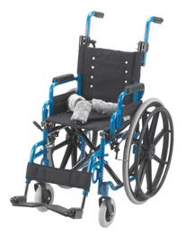 Drive Medical Wallaby Pediatric Folding Wheelchair, Blue, 14