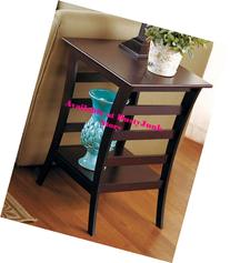 Walnut Finish Table Collection -End Table