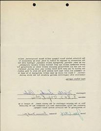 Walt Alston Signed Gillette Razor Authorization Use of