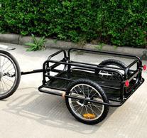 Aosom Wanderer Bicycle Bike Cargo / Luggage Trailer - Black