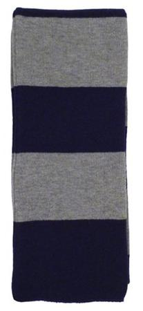 Simplicity Winter 2-Tone Striped Acrylic Neck Scarf, Navy/