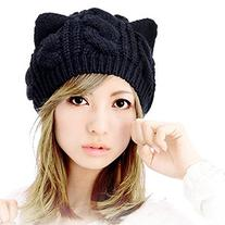 Fashion Women Girl Warm Winter Fall Wool Crochet Baggy Beret