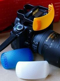 Warming and Cooling Screens for SLR Pop-Up Flash Diffuser -