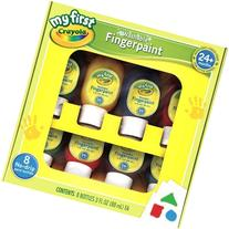 Crayola Washable Finger Paints, 8-Count , Red, Blue, Yellow
