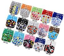 5 Pcs Baby Washable Reusable Cloth Diapers Adjustable Snap