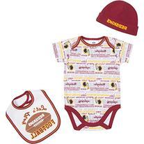 NFL Washington Redskins Bodysuit, Bib & Cap Set , 0-3 Months