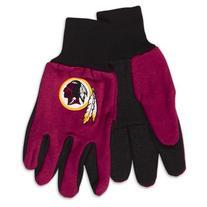 NFL Washington Redskins Two-Tone Gloves, Red/Black