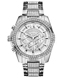 Guess Men's Chronograph Crystal-Accent Stainless Steel