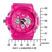 Fanmis Sport Watch Analog/Digital Water Resist Dual Time