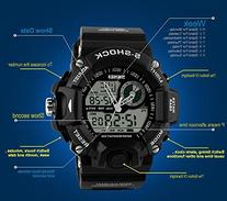 Fanmis Men's Analog Display LED Watches Military