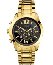 Guess Men's Chronograph Gold-Tone Stainless Steel Bracelet