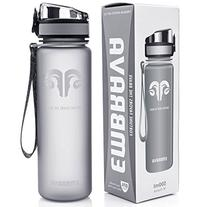 Best Sports Water Bottle - 18oz Small - Eco Friendly & BPA-Free Plastic - For Running, Gym, Yoga, Outdoors and Camping - Fast Water Flow, Flip Top,