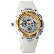 Jewtme Water-proof 100m Dual Time Unisex Child Outdoor Sport