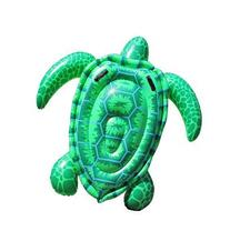 Children's water toys PVC inflatable turtle mount swim ring