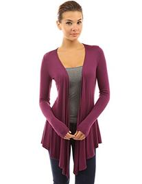 PattyBoutik Women's Waterfall Asymmetric Hem Cardigan