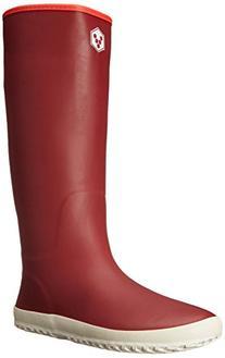 Vivobarefoot Women's Waterloo Rain Boot, Redwood, 10 M US