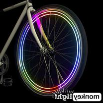 MonkeyLectric 40 lm Waterproof 4 Full Colored LED Bike Wheel