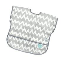 Bumkins Baby Toddler Bib, Waterproof Junior Bib, Gray