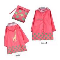 Vkenis Waterproof Cartoon Children's Raincoat for Kids Aged