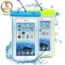 Waterproof Case, 2 Pack Ace Teah Clear Universal Waterproof