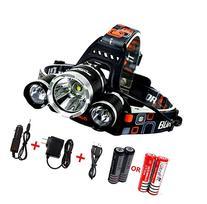 Benran Waterproof LED Headlamp Headlight Rechargeable Head