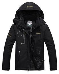 Men's Fleece Outerwear Jackets Outdoor Waterproof Coat