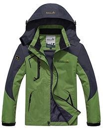 Wantdo Men's Sportswear Spring Hooded Raincoat Outdoor