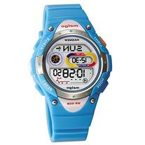 Pasnew LED Waterproof 100m Sports Digital Watch for Children