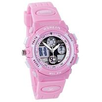 PASNEW Boys Girls Waterproof Sport Digital Watch Dual Time