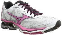 Mizuno Women's Wave Creation 16 Running Shoe, White/Fuchsia