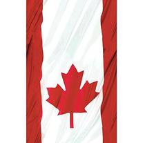 Amscan Waving Canadian Flag Patriotic Party Table Cover ,