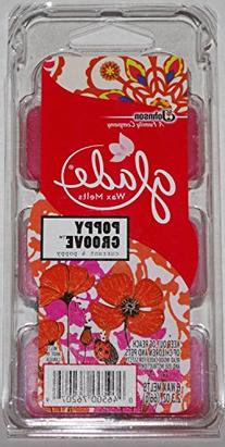 Glade Wax Melts Poppy Groove 6 count each
