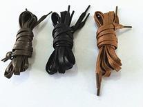 1 Pair Waxed Shoe Laces Flat Shoestrings Strings Shoelaces