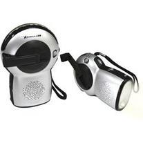 GPX Weather X FR2815 AM/FM Radio with Flashlight with