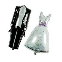 "Mcupper-Wedding Dress & Tuxedo Balloons 39"" Wedding"